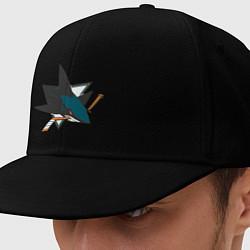 Кепка-снепбек San Jose Sharks цвета черный — фото 1