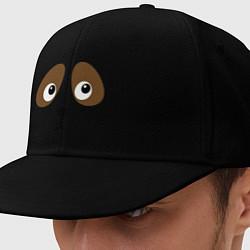 Кепка-снепбек Грустная собачка цвета черный — фото 1