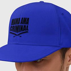 Кепка-снепбек Mama ama criminal цвета синий — фото 1