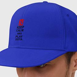 Кепка-снепбек Keep Calm & Play Dota цвета синий — фото 1