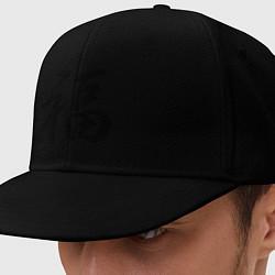 Кепка-снепбек Иероглиф удача цвета черный — фото 1