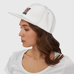 Кепка-снепбек Мопс цвета белый — фото 2