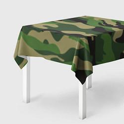 Скатерть для стола Камуфляж: хаки/зеленый цвета 3D-принт — фото 2