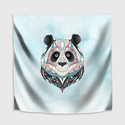 Скатерть для стола Расписная голова панды цвета 3D — фото 1