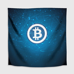 Скатерть для стола Bitcoin Blue цвета 3D-принт — фото 1