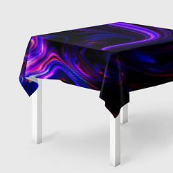 Скатерть для стола Цветные разводы цвета 3D — фото 2