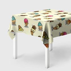 Скатерть для стола Мороженое с характером цвета 3D — фото 2