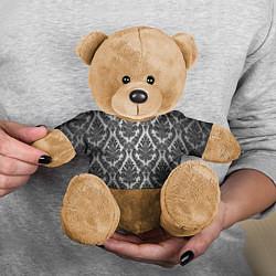 Игрушка-медвежонок Гламурный узор цвета 3D-коричневый — фото 2