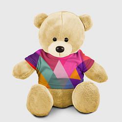 Игрушка-медвежонок Разноцветные полигоны цвета 3D-желтый — фото 1