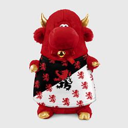 Игрушка-бычок Лев герба Нидерландов цвета 3D-красный — фото 1