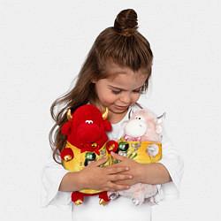 Игрушка-бычок Sanjay: Craig & Pizza цвета 3D-красный — фото 2