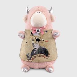 Игрушка-бычок Зигмунд Фрейд цвета 3D-светло-розовый — фото 1