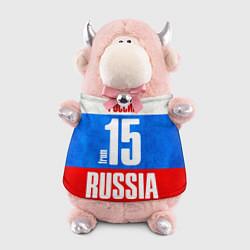 Игрушка-бычок Russia: from 15 цвета 3D-светло-розовый — фото 1