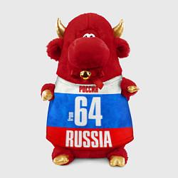 Игрушка-бычок Russia: from 64 цвета 3D-красный — фото 1