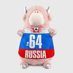 Игрушка-бычок Russia: from 64 цвета 3D-светло-розовый — фото 1