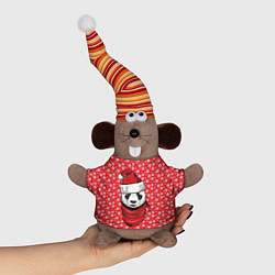 Игрушка-мышка Панда Клаус цвета 3D-серый — фото 1