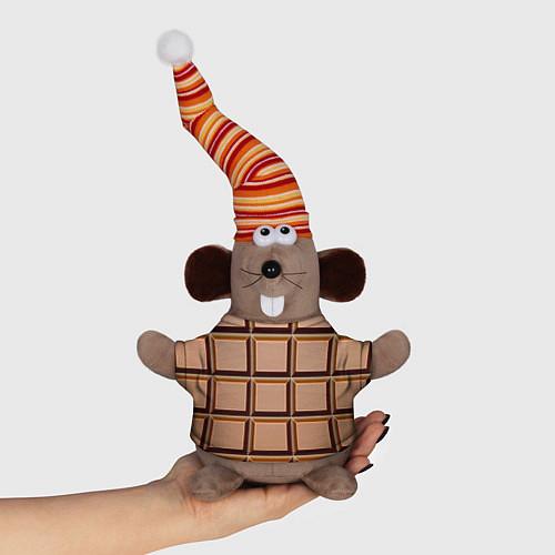 Игрушка-мышка Шоколад / 3D-Серый – фото 1