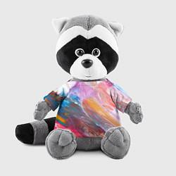 Игрушка-енот Абстракционизм 5 цвета 3D-серый — фото 1