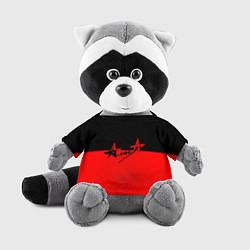 Игрушка-енот АлисА: Черный & Красный цвета 3D-серый — фото 1