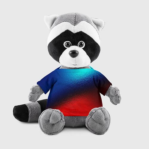 Игрушка-енот Синий и красный / 3D-Серый – фото 1