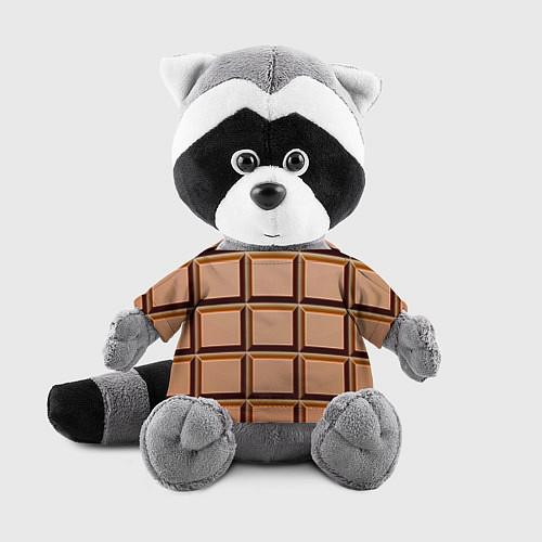 Игрушка-енот Шоколад / 3D-Серый – фото 1