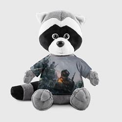 Игрушка-енот Солдаты цвета 3D-серый — фото 1