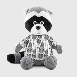 Игрушка-енот Перья цвета 3D-серый — фото 1