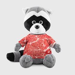 Игрушка-енот Кусок мяса цвета 3D-серый — фото 1