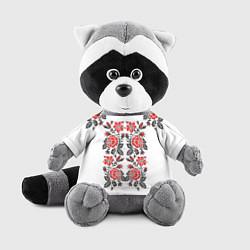 Игрушка-енот Вышивка 28 цвета 3D-серый — фото 1