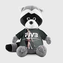 Игрушка-енот Волейбол 80 цвета 3D-серый — фото 1