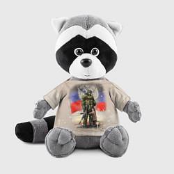 Игрушка-енот Солдат и дитя цвета 3D-серый — фото 1
