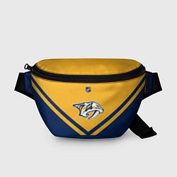 Поясная сумка NHL: Nashville Predators цвета 3D-принт — фото 1