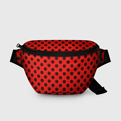 Поясная сумка Леди Баг: узор цвета 3D-принт — фото 1