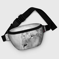 Поясная сумка Мудрый лев цвета 3D-принт — фото 2