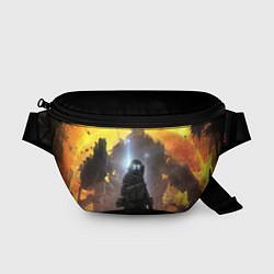 Поясная сумка Titanfall: Robots War цвета 3D-принт — фото 1