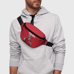 Поясная сумка FC MU: Pogba цвета 3D-принт — фото 2