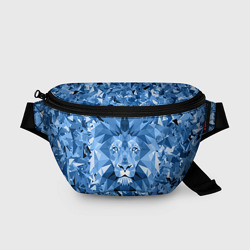 Поясная сумка Сине-бело-голубой лев / 3D – фото 1