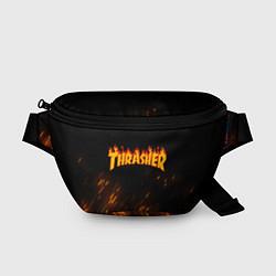 Поясная сумка Thrasher: Hell Flame цвета 3D — фото 1