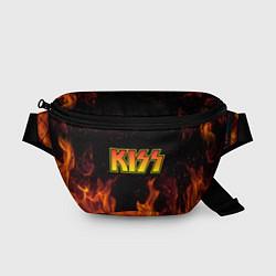Поясная сумка KISS цвета 3D-принт — фото 1