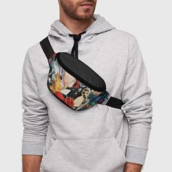 Поясная сумка One Punch Man цвета 3D-принт — фото 2