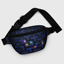Поясная сумка Pacman цвета 3D-принт — фото 2