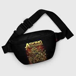 Поясная сумка Asking Alexandria цвета 3D-принт — фото 2