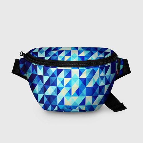 Поясная сумка Синяя геометрия / 3D – фото 1