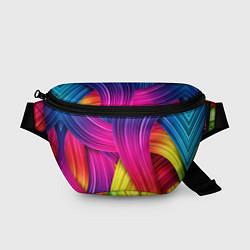 Поясная сумка Абстракция цвета цвета 3D — фото 1