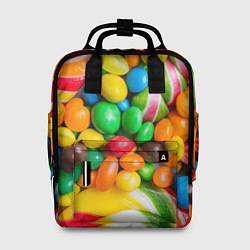 Рюкзак женский Сладкие конфетки цвета 3D — фото 1
