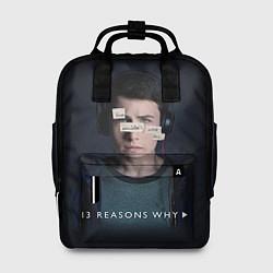 Рюкзак женский 13 reason why цвета 3D-принт — фото 1