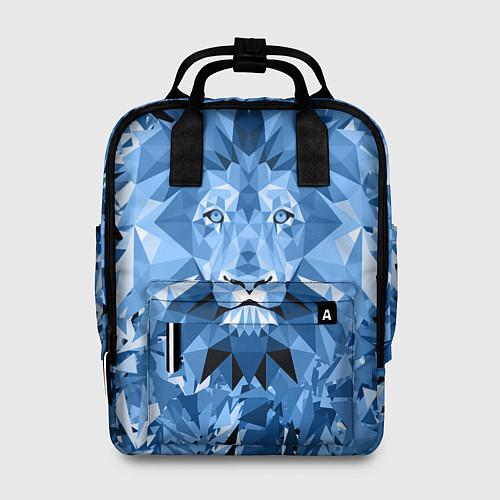 Женский рюкзак Сине-бело-голубой лев / 3D – фото 1