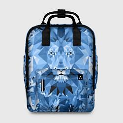 Женский рюкзак Сине-бело-голубой лев