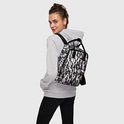 Рюкзак женский Черно-белые медведи цвета 3D-принт — фото 2