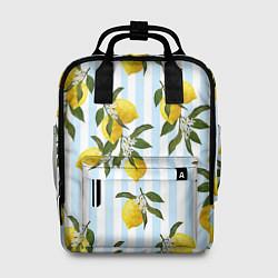 Рюкзак женский Лимоны цвета 3D — фото 1